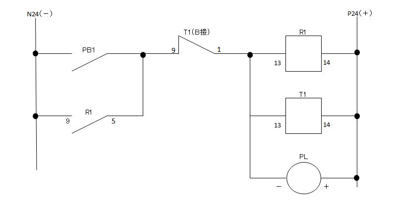 タイマー自己保持回路の図