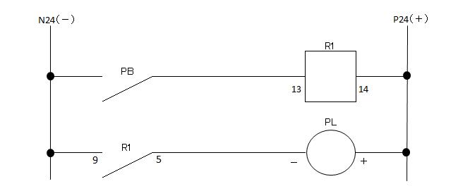 基本リレー回路の図
