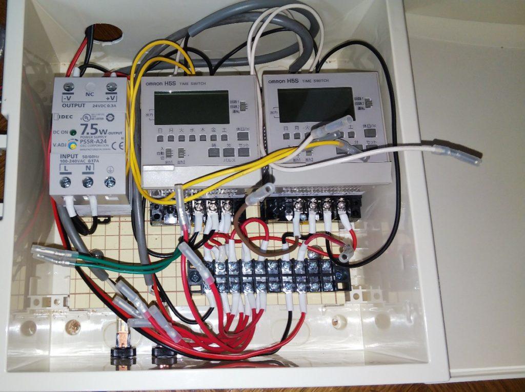 装置内配線完成の写真