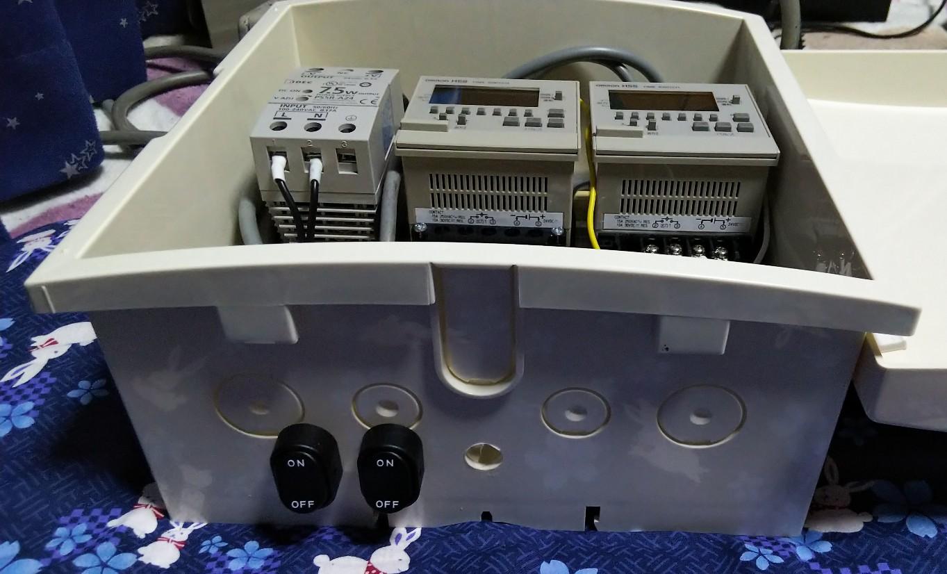 ロッカスイッチ付プラボックスの写真