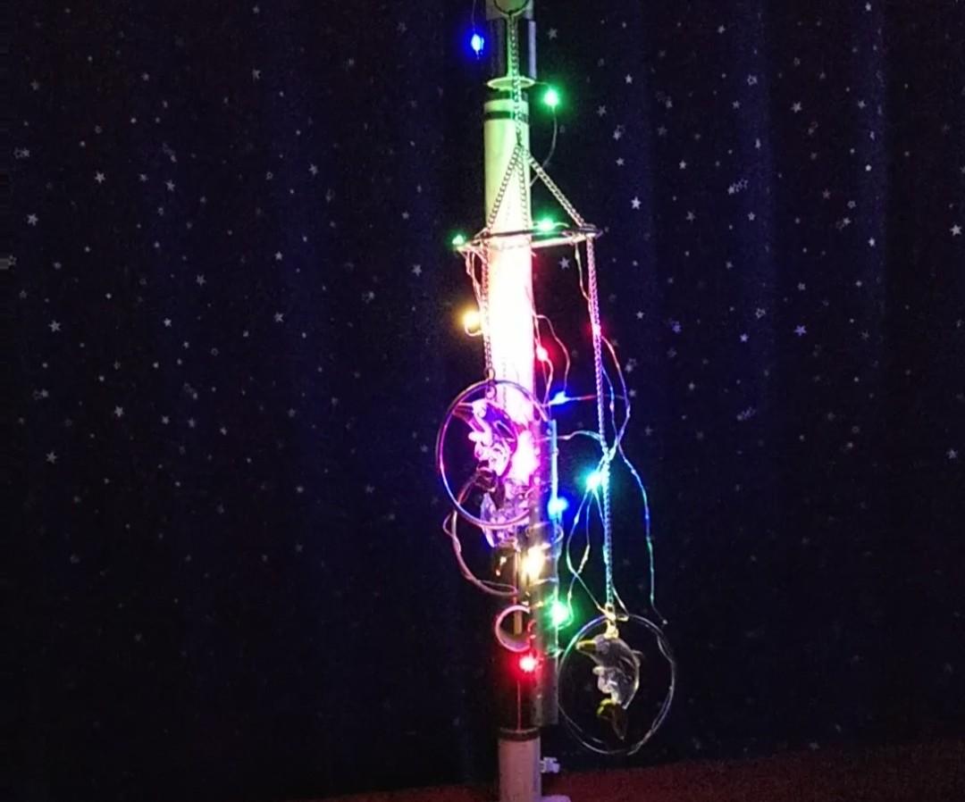 LED点灯の様子の写真