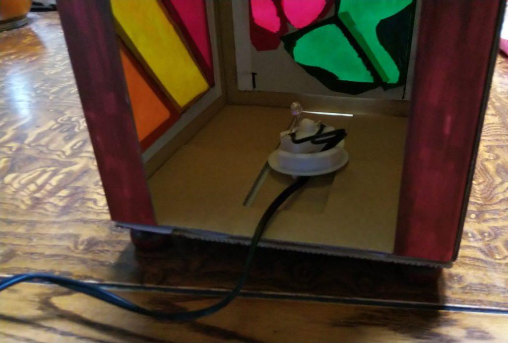 改造LEDランプを搭載の様子の写真