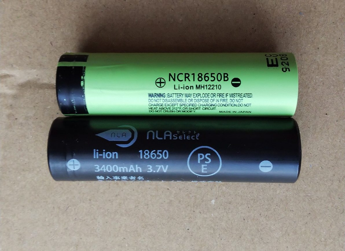 18650電池比較の写真