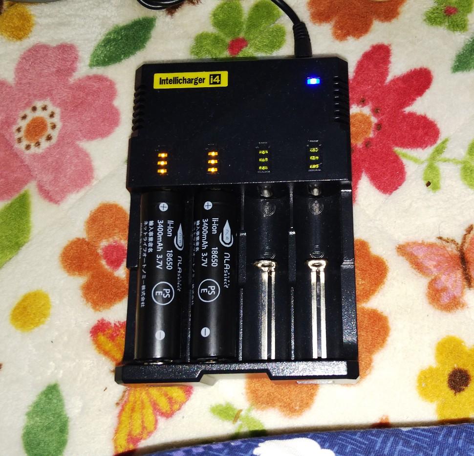 18650電池&充電器の写真