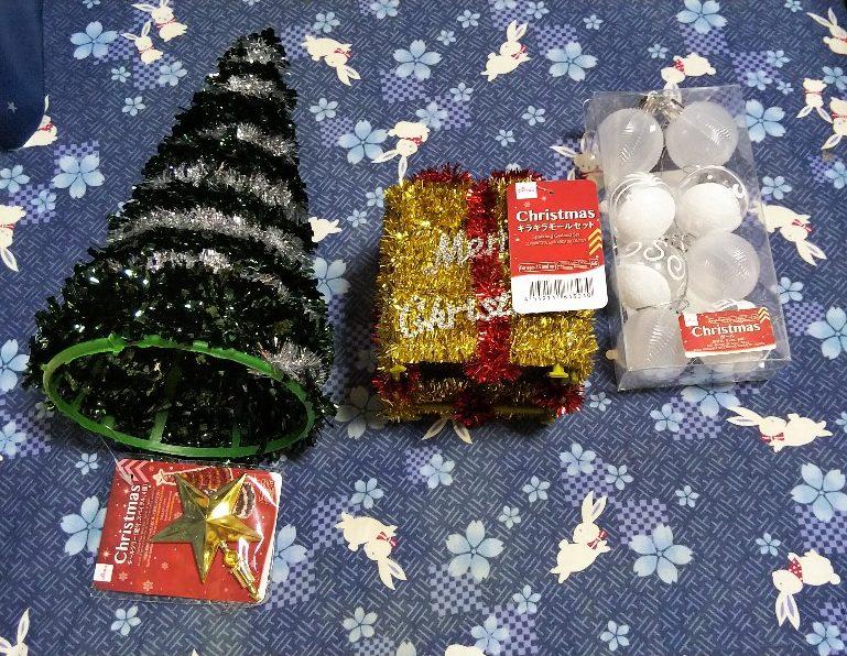 ダイソーのクリスマス飾り