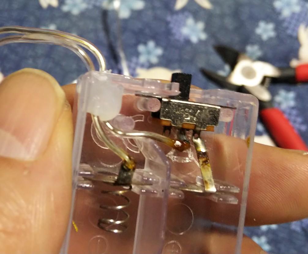 電池部の拡大写真