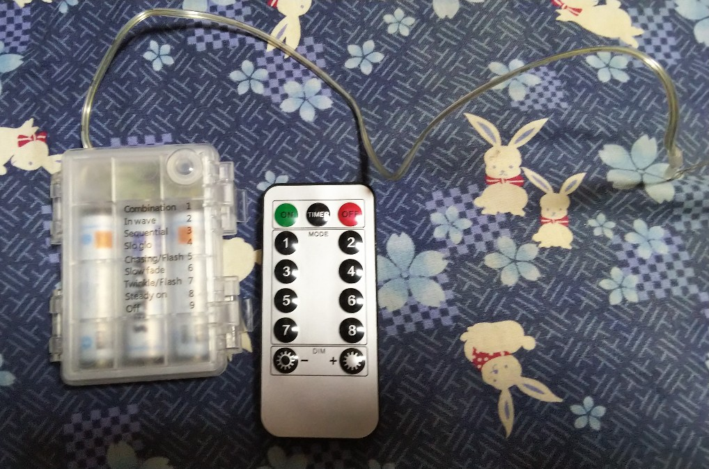 電池式ジュエリーライト リモコン付きの写真