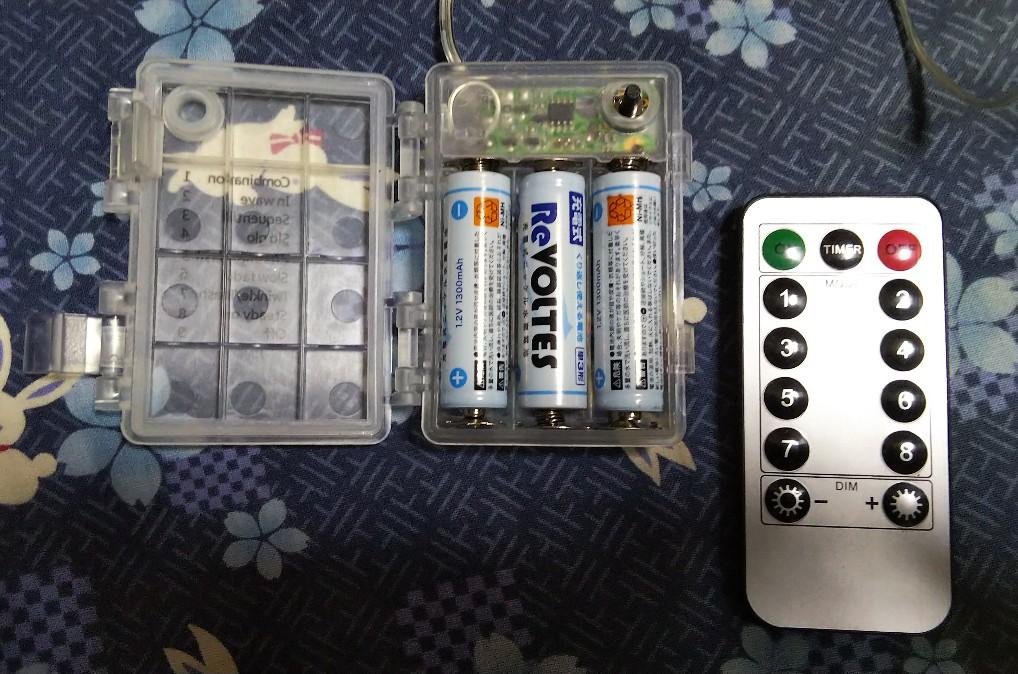 100均の充電池をセットした様子の写真
