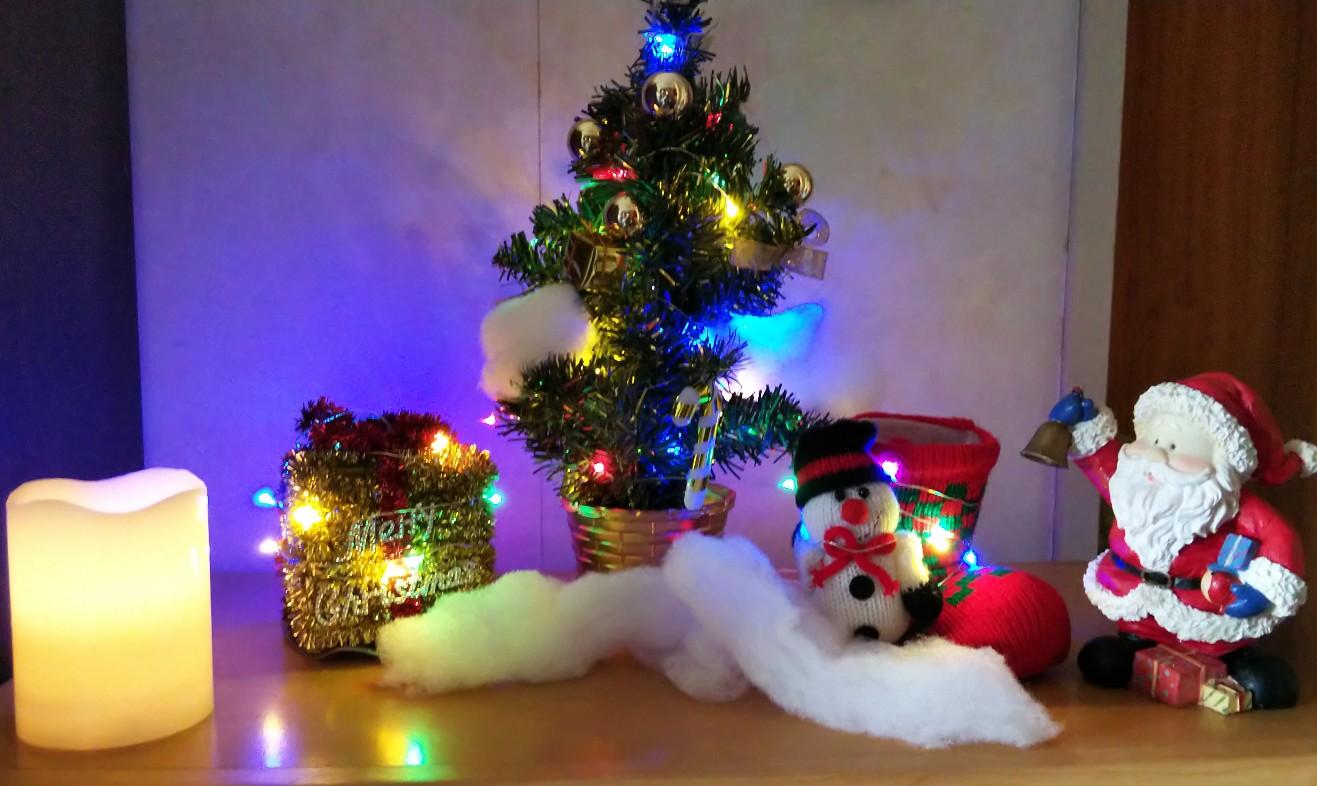 省スペース用クリスマス飾りの写真