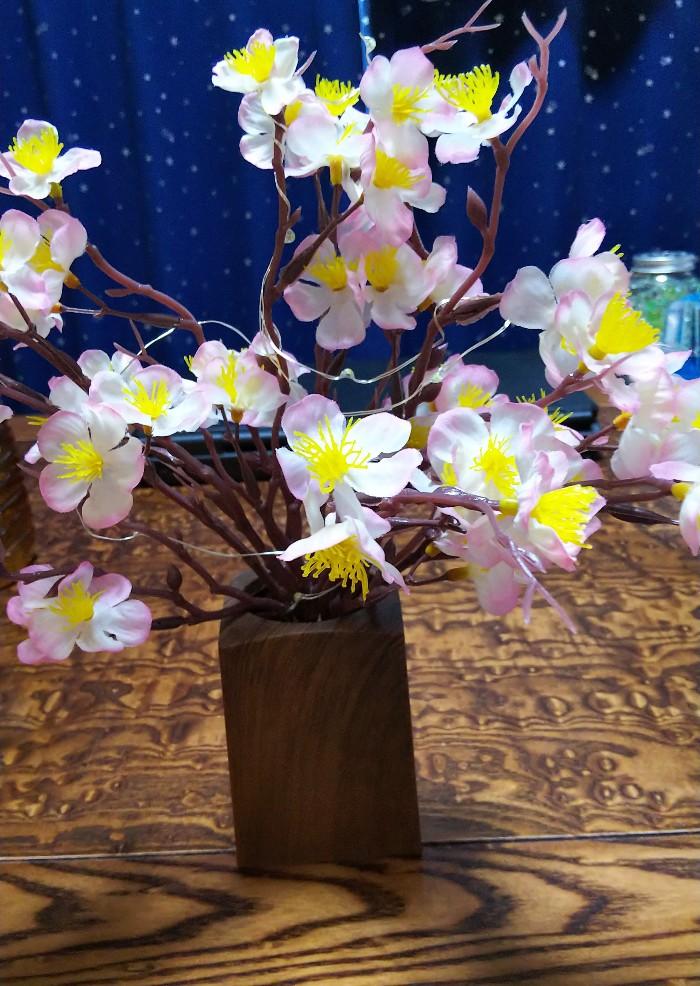 桜飾り完成の写真