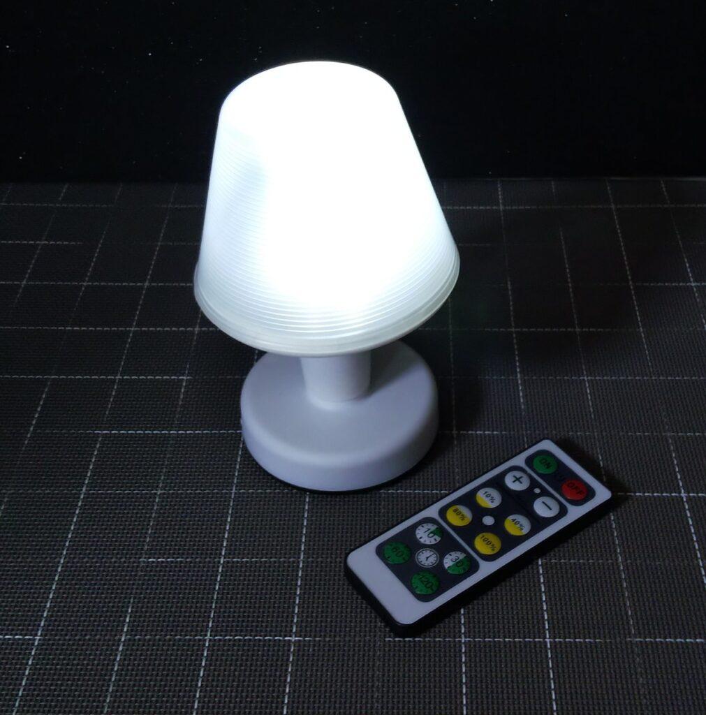 ランプ点灯の様子の写真