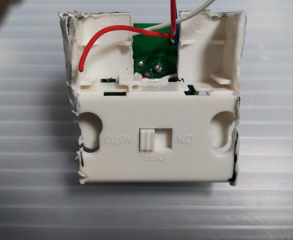 動作モードスイッチの写真