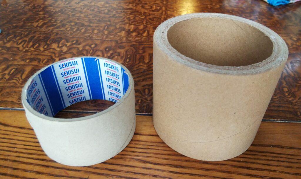 ガムテープの芯の写真