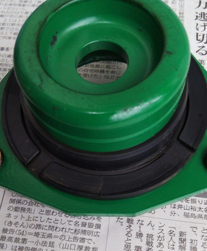 ゴムの加圧部位の写真