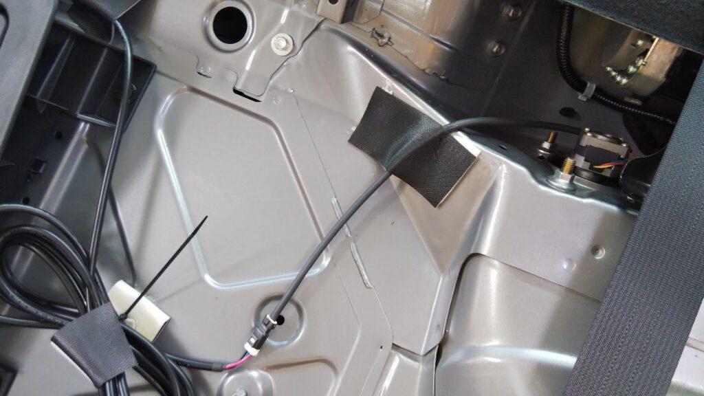 モーター結線部の写真